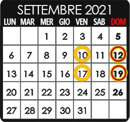 Summer Camp - settembre 2021